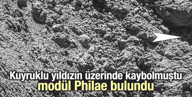 Kuyruklu yıldızın üzerinde kaybolan modül Philae bulundu
