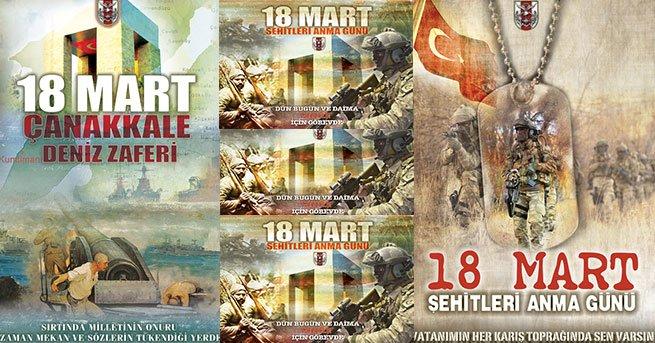 TSK'nın, Mustafa Kemal'siz 18 Mart afişleri