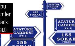 Türkiye'de en çok kullanılan cadde/meydan isimleri