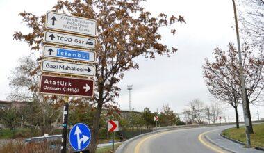 Başkent'e Yeni Trafik Levhaları