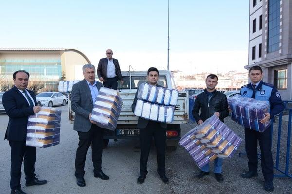 Suriye Türkmenlerine Belediye'den Destek