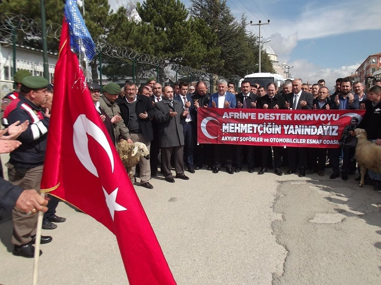 Akyurtlu Şoförlerden Afrin'e Destek Konvoyu
