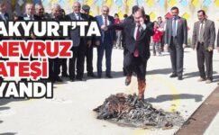 Akyurt'ta Nevruz Ateşi Yandı