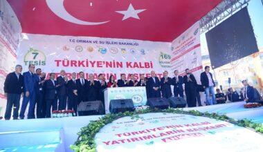 169 milyon TL'lik 7 tesisin temeli atıldı
