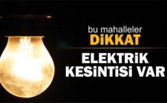 Akyurt'ta Salı Günü Elektrik Kesintisi