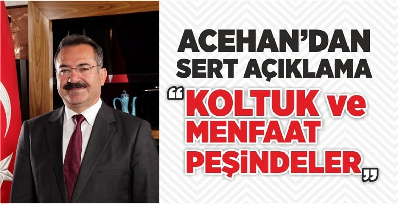 Acehan'dan Sert Tepki