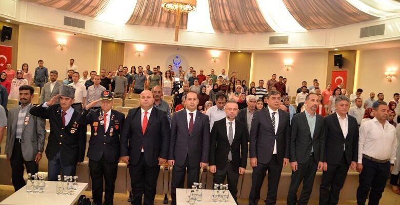 Kıbrıs gazileri onuruna resepsiyon