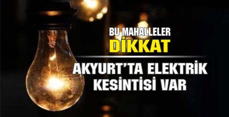 Salı Günü Elektrik Kesintisi Var!