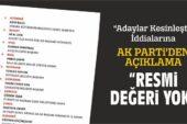 """AK Parti'den Açıklama: """"Resmi Değeri Yok"""""""
