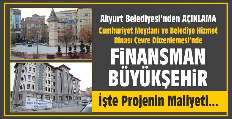 Akyurt Belediyesi'nden Açıklama