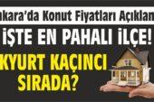 Ankara'da Konut Fiyatları Açıklandı