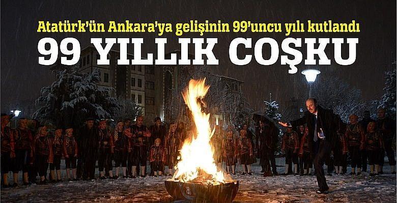 Atatürk'ün Ankara'ya Gelişi Kutlandı