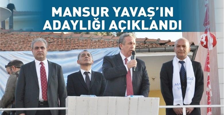 CHP'nin Ankara adayı Mansur Yavaş oldu