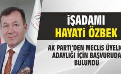 Özbek, AK Parti'den Aday Adayı Oldu