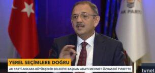 Büyükşehir Belediye Başkan Adayı Mehmet Özhaseki TVNET'te
