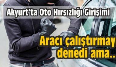 Akyurt'ta Oto Hırsızlığı Girişimi