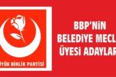 BBP'nin Akyurt Belediye Meclis Üye Adayları