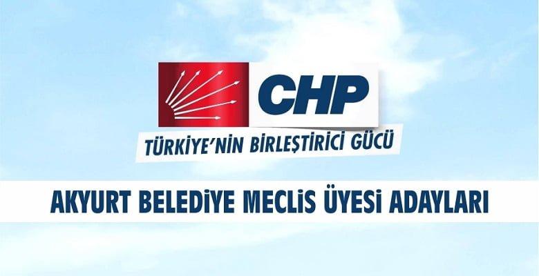 CHP'nin Belediye Meclis Üyesi Adayları