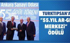 """ASO'dan Türktıpsan'a """"55. Yıl Ar-Ge Merkezi"""" Ödülü"""