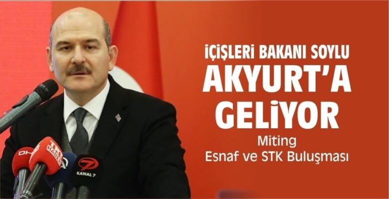 İçişleri Bakanı Soylu Akyurt'a Geliyor