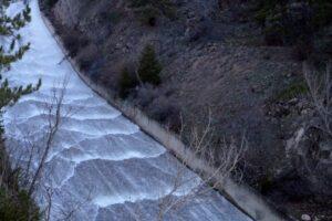 Çubuk-2 Barajı Doldu, Su Savaklardan Boşaltılıyor
