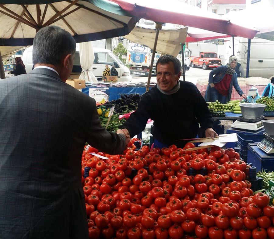 Başkan Ayhan Yılmaz Semt Pazarını Denetledi