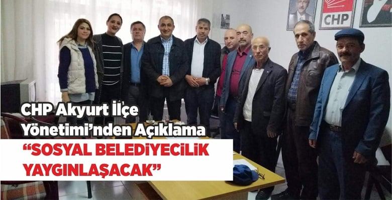CHP'den Açıklama: Sosyal Belediyecilik Yaygınlaşacak