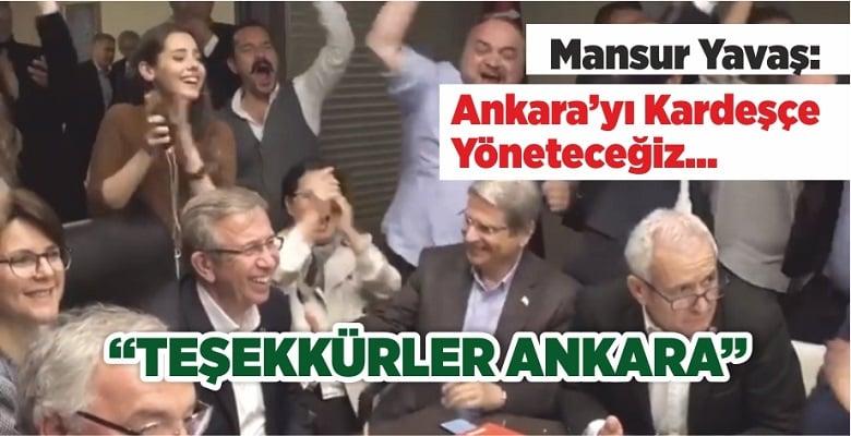 Mansur Yavaş: Teşekkürler Ankara