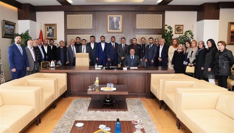 AK Parti ve MHP'den Başkan Yılmaz'a hayırlı olsun ziyareti
