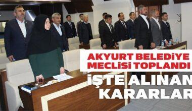 Mayıs Ayı'nda Akyurt Belediye Meclisi'nde Alınan Kararlar