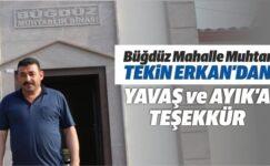 Muhtar Erkan'dan Hilal Ayık ve Mansur Yavaş'a Teşekkür