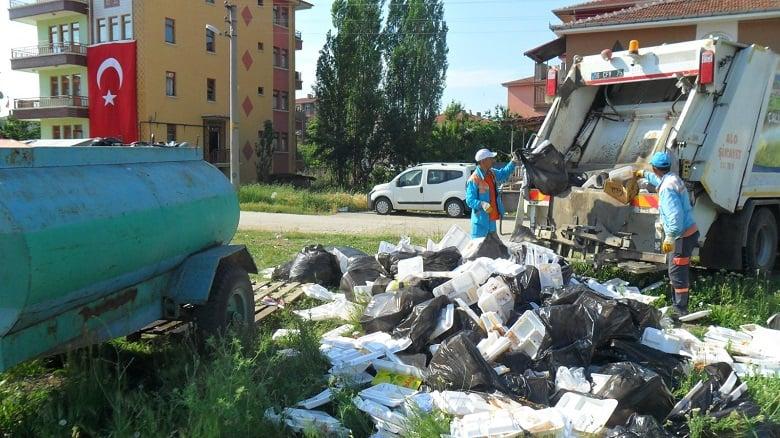 Çubuk'ta Vatandaşlara Çöp Uyarısı