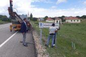 Çubuk'ta sokak ve yön levhaları yenileniyor