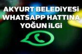 Akyurt Belediyesi WhatsApp Hattına Yoğun İlgi