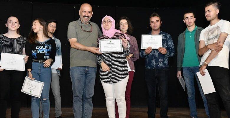 Geleceğin sanatçıları sertifikalarını aldı