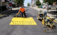 Çankaya'da 32 Mahallede Asfalt Çalışması