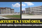 Akyurt'a İki Yeni Okul, Büyük Oranda Tamamlandı