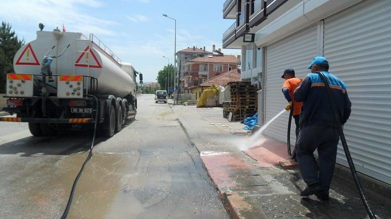 Çubuk'ta Temizlik Çalışmaları