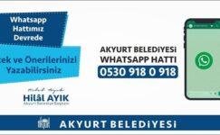 Akyurt Belediyesi WhatsApp hattı hizmete girdi