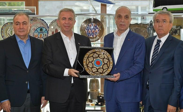 Başkan Yavaş'tan Türk-İş'e Ziyaret