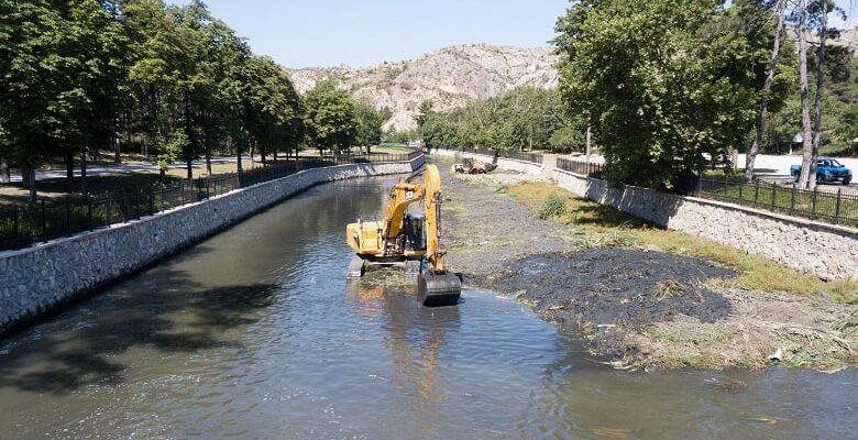 Çubuk 1 Baraj Gölü Temizleniyor