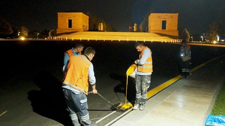 Büyükşehir'den Anıtkabir'e Özel Çalışma