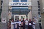 Pursaklar'da Hanımlar Sertifikalarını Almaya Devam Ediyor