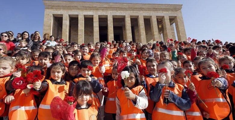 Çankayalı Kreş Çocukları Anıtkabirde
