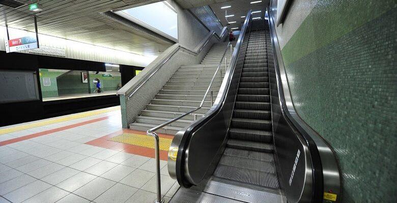 Metro'daki Çalışmayan Yürüyen Merdivenler