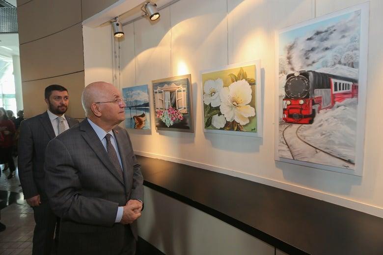 YENİMEK Yağlı Boya Resim Sergisi Açıldı