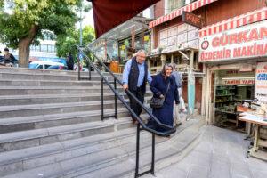 Tarihi Mahallelerde Merdivenler Yenilendi