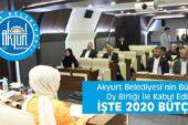 Akyurt'un Bütçesi Oy Birliği İle Kabul Edildi