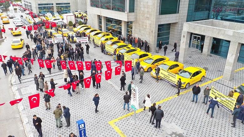 Taksici Esnafından Başkan Yavaş'a Destek