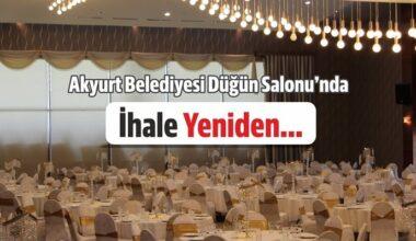 Düğün Salonu İhalesi Yeniden…